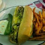 Cheesesteak with Sweet Potato Fries