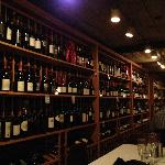 Dining in the wine cellar