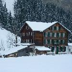 The Alpenhof - its snowing!
