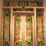 Gorgeous stained glass entryway