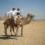 Camel ride arranged by our guide