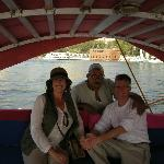 Nile boat ride arranged by our guide