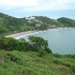 Vista de Playa Brava desde el morro para ir a Olho de Boi