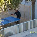 Ping Pong outside of room, kept kids (and adults) busy