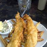 regular fish and chips :D