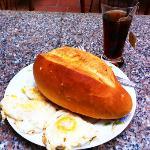 Huge baguette for breakfast!  (Nov 2012)