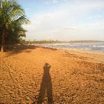 Sunrise at Sivory hotel beach