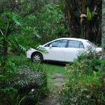 Yellowwood Cottage parking on grass hill