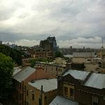 The Rocks & Sydney's iconic Harbour Bridge from YHA