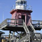 The former Two Rivers Lighthouse- you can go in and read stories