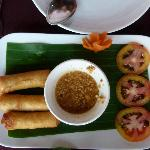 Spring rolls - cooked or 'fresh' - excellent
