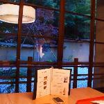 夕食・・・外の景色もきれい