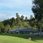 View of accommodation from golf course