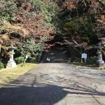 Entry to the stairs that lead to Hideyoshi Toyotomi's grave