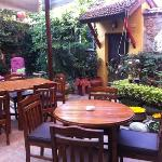 garden cafe where breakfast , lunch and dinner is held here
