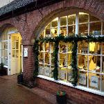 Christmas windows at The Copper Pot