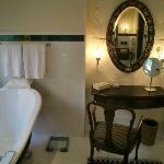 Bathroom - yes, girls love bathtubs and dressers