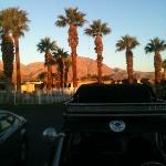 Sunrise looking towards pool