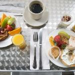 Continental Breakfast on our terrace at Cuvee Seafood & Grille