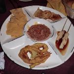 The appetizers at the steak house