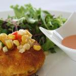 Crab Cake Appetizer at Cuvee Seafood & Grille