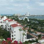 Vista desde habitación en el frente del Hotel hacia laguna