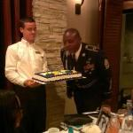 Staff Members were very nice-- helping my father blow out the candles!