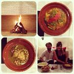 enjoyed a wonderfully romantic and cozy dinner prepared by brahim in the parlour by the fire