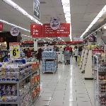 Modern supermarket in Wong Department Store in nearby mall.