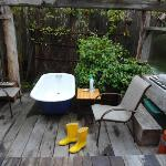 funky outdoor tub