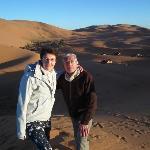 Au sommet d'une dune.
