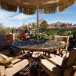Beautiful Red Rock Views from Garden Seating Area