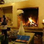 Enjoying a bottle of wine in the lounge
