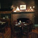 back dining room with working fireplace!