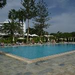 Nissi Beach pool - good size and water aerobics every day