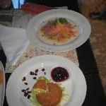 Salmon and Camemebert