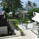 a modern resort set right on the beach