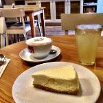 lovely light lemon cheesecake.