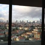 Blick vom Balkon 19 Stockwerk