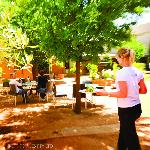 Fowles Wine shady courtyard
