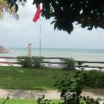 View from honeymoon beachfront walkout room!