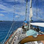 Sailing to Cooper Island