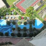 View from room of pool