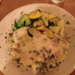 grilled chicken with mushroom poblano cream sauce