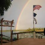 Beautiful Rainbow from the lodge deck