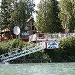 View of Lodge from the Kenai River