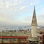 View from our room (Marmara Sea and a local mosque)