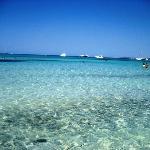 Mar azul turquesa