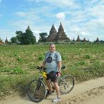 Biking around in Bagan with a BW bike