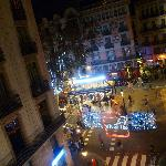 View of La Rambla at night